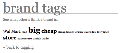 wal mart brand tags